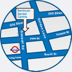 location of Barbican Dental Centre